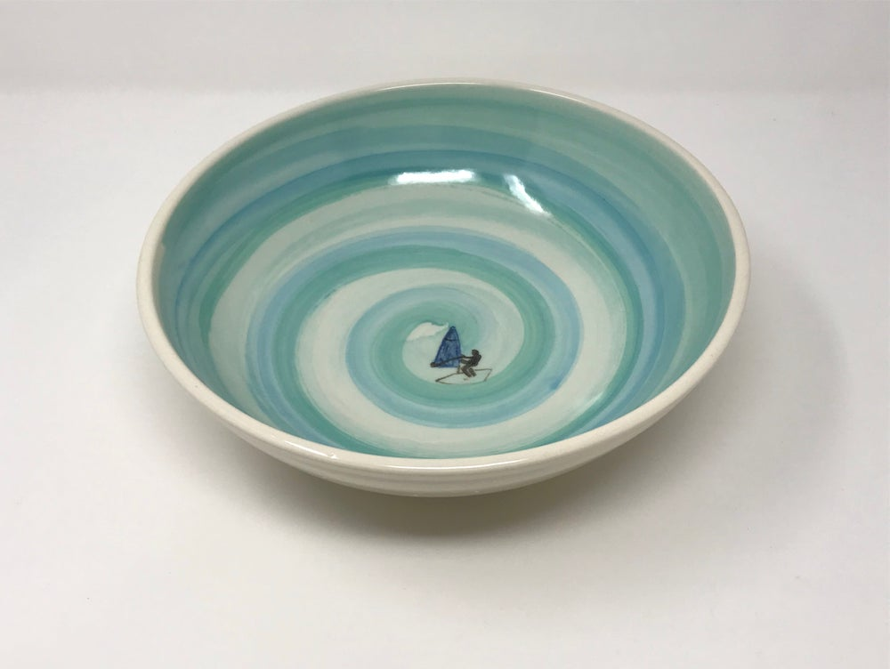 Image of Windsurfer Decorated Bowl