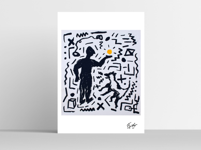 'A Dog's Game' A3 Print