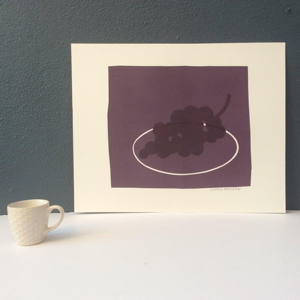Image of Grapes monoprint 4