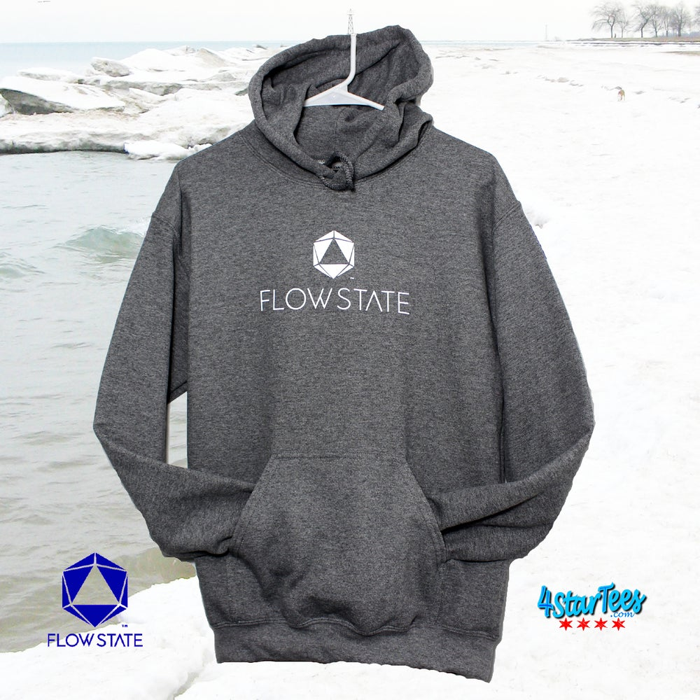 Image of FLOW STATE No-Zip Reflective Hoodie - Heather Graphite