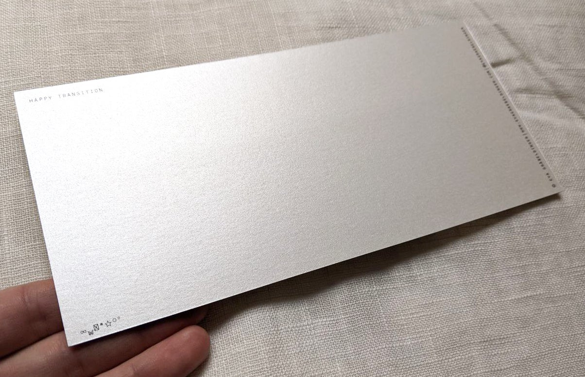 "Image of long card """