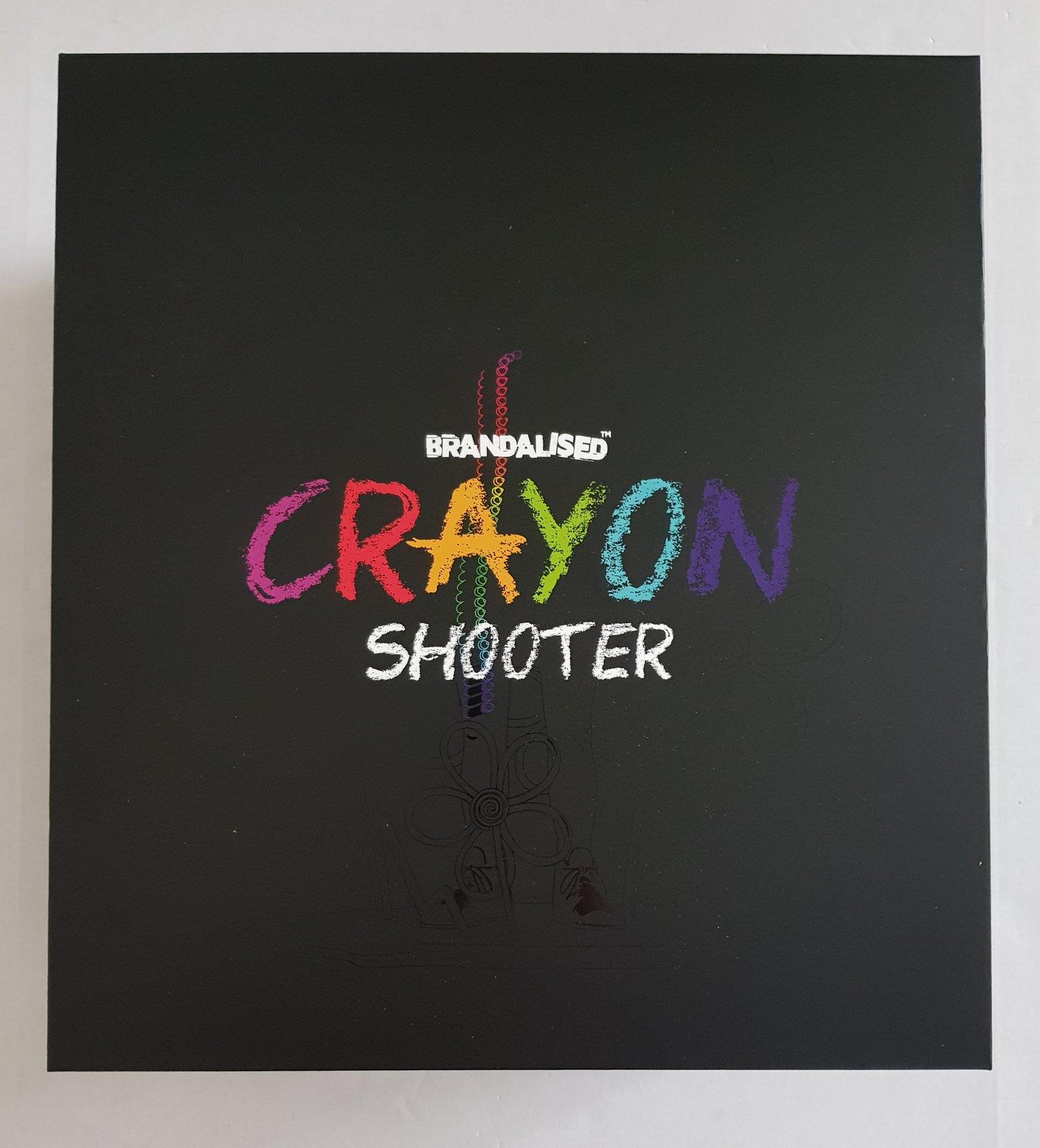 "Image of ""CRAYON SHOOTER"" BRANDALISED SCULPTURE - BRAND NEW IN ORIGINAL PACKAGING"
