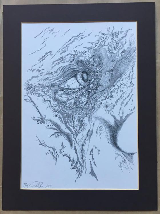 Image of Marshall Allen's Eye Original Drawing