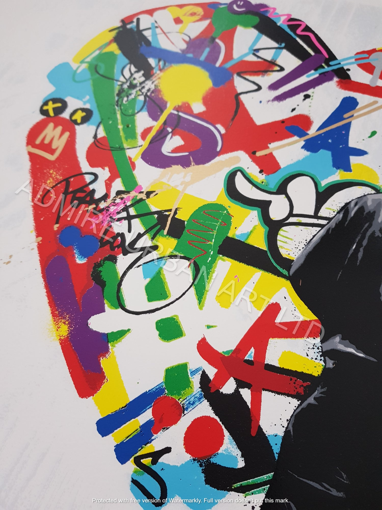 """Image of MARTIN WHATSON """"PAINT LOVE""""- 24 COLOUR PRINT EDITION OF 150 - 55CM X 55CM"""