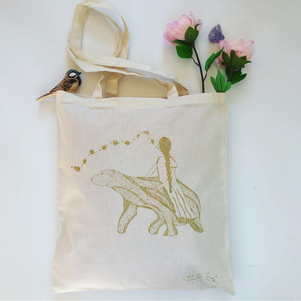 Image of Tote Bag *Poetic Bear*