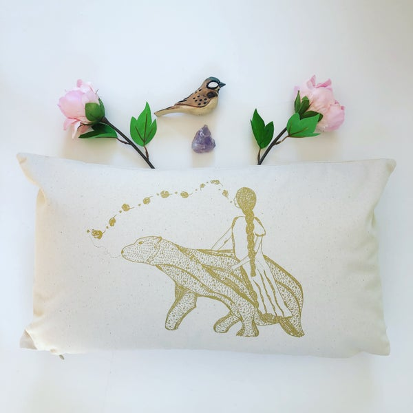 Image of Coussin *Poetic Bear* 30 x 50 cm