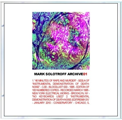 "Image of B!131 Mark Solotroff ""Archive01"" CD"