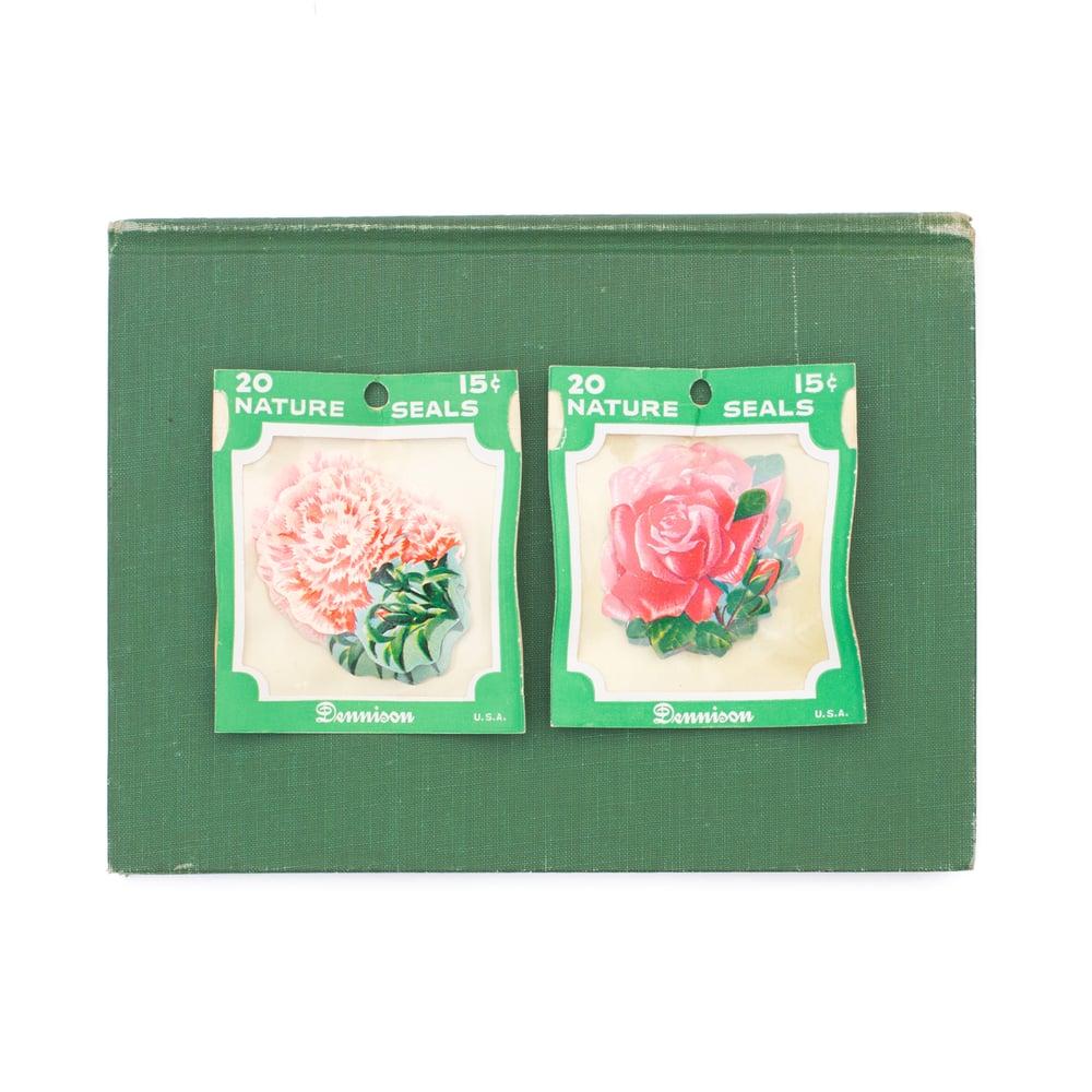 Image of Dennison Floral Gummed Seals - Full Package