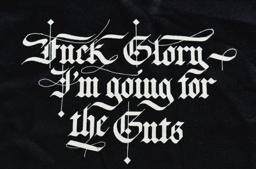 "Image of ""Fuck Glory"" Black Crewneck Sweatshirt"