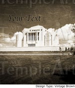 Image of Cardston Alberta Canada LDS Mormon Temple Art 001 - Personalized Temple Art