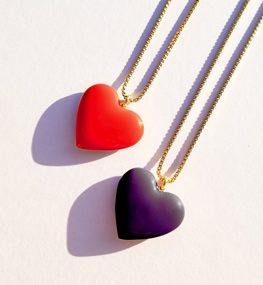Love Necklace • Black & Maroon