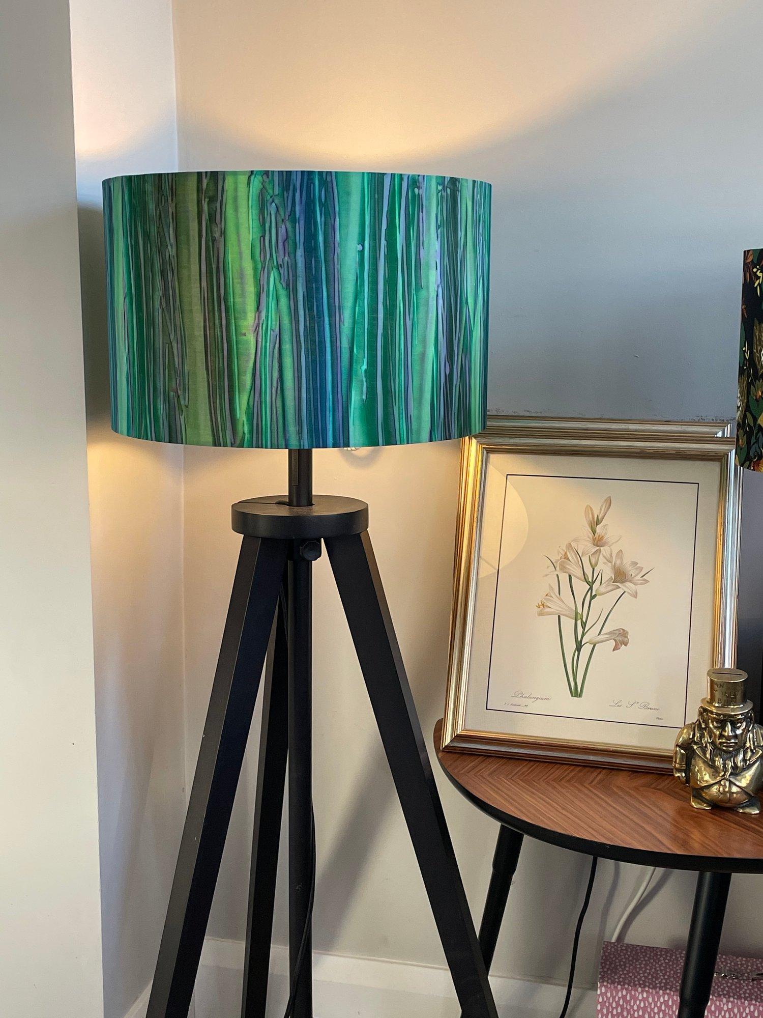 Image of Patina Handpaints Stripes Emerald Shade 40cm