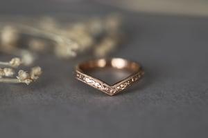 Image of 18ct rose gold, Primavera Wishbone ring 2.5mm
