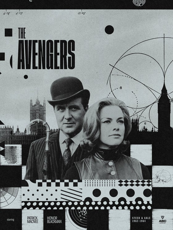 Image of The Avengers - 60th Anniversary Print - Steed & Gale