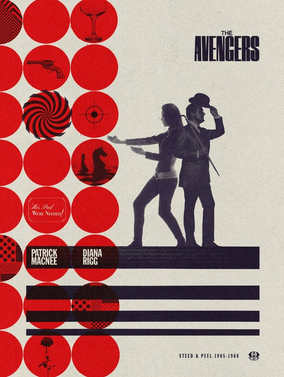 Image of The Avengers 60th Anniversary Steed & Peel Era