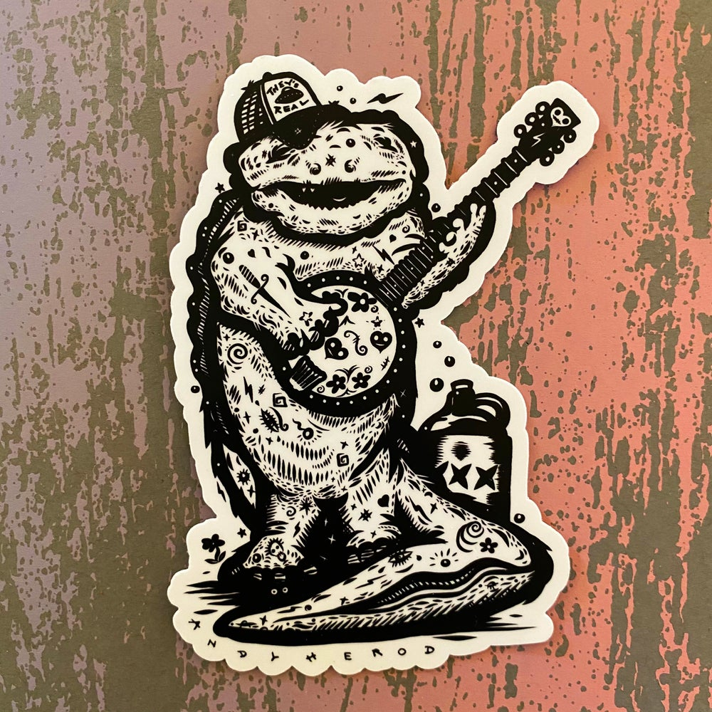 Image of Hannah's Hellbender (They's Real) Vinyl Sticker