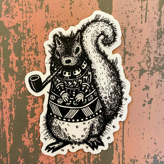 Image of Pretentious Squirrel Vinyl Sticker