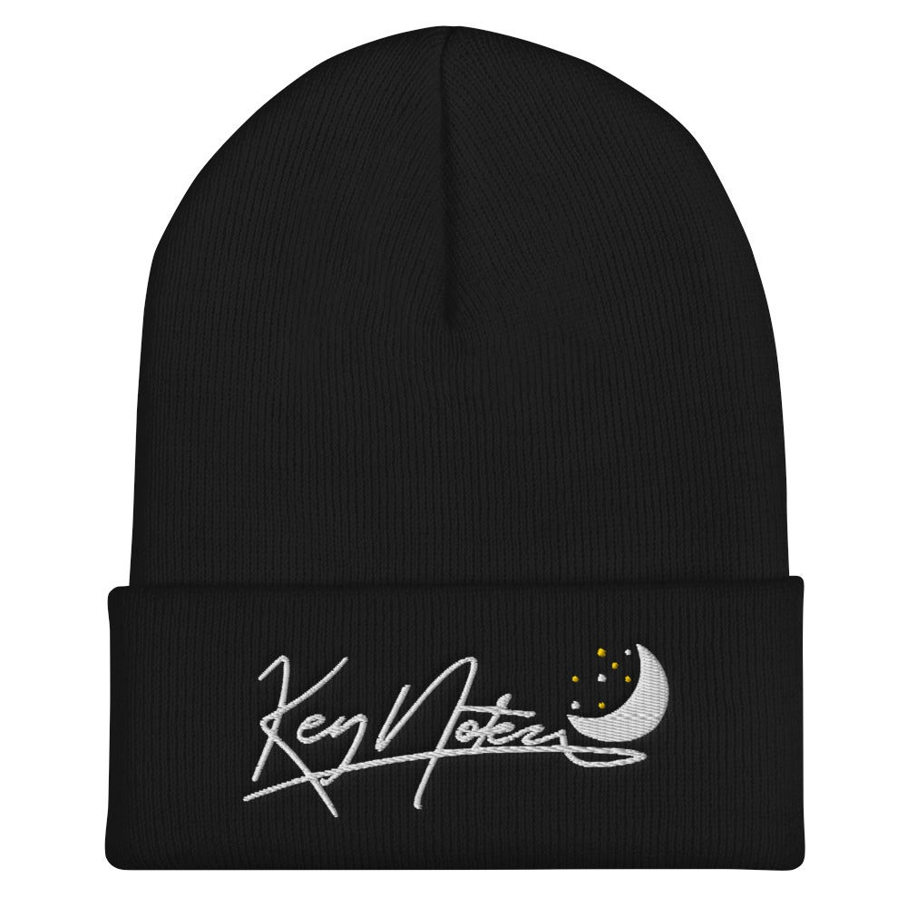 Image of Key Notez cuffed beanie