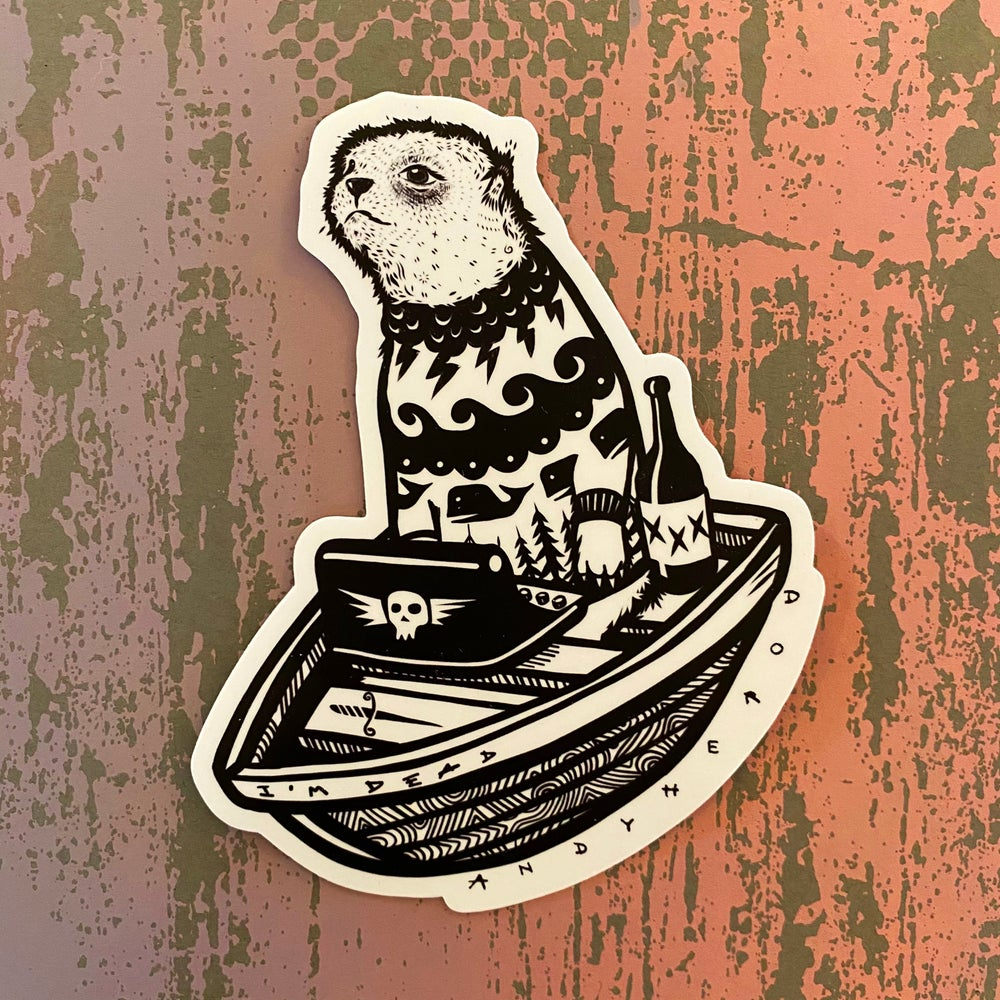 Image of The Writer Vinyl Sticker