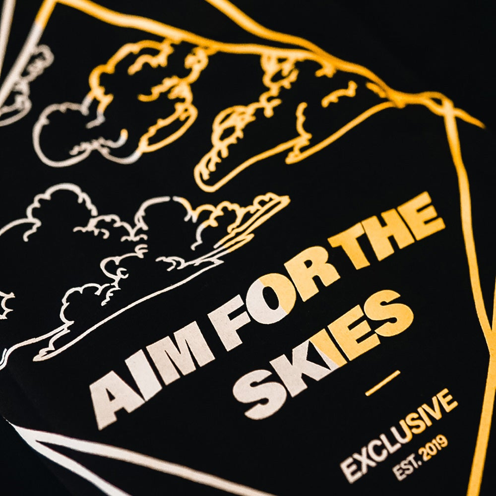 Image of Aim for the Skies Tee - Black 20% OFF