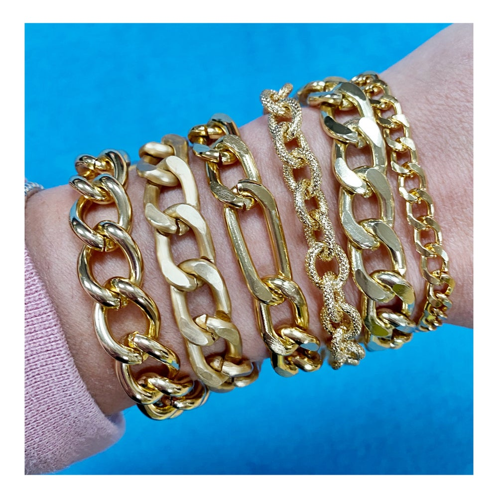 Image of Bracciale Catena Oro