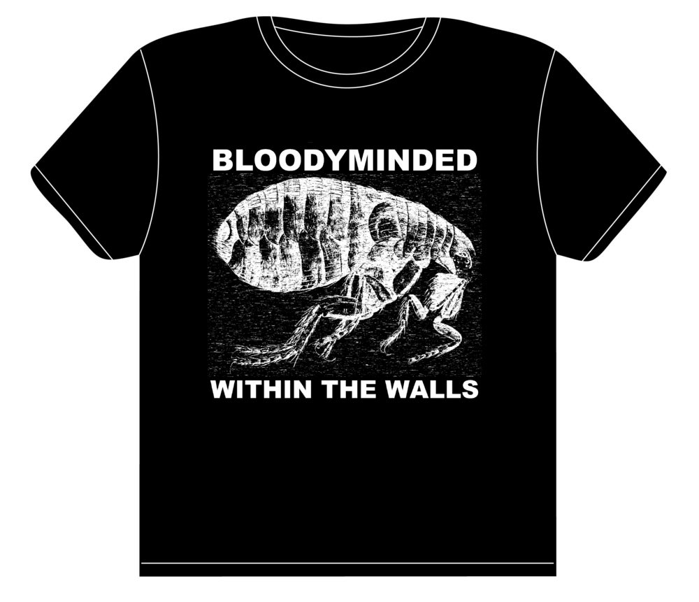 """Image of BLOODYMINDED """"Within The Walls"""" (flea) T-shirt"""