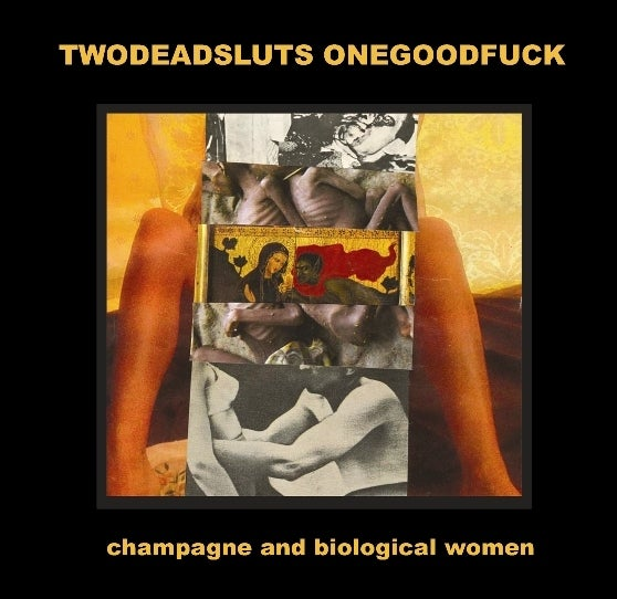 """Image of B!116 Twodeadsluts Onegoodfuck """"Champagne and Biological Women"""" 7-inch"""