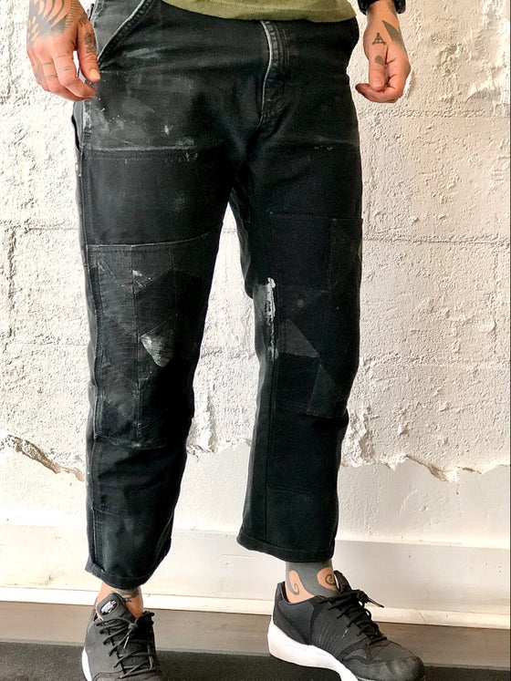 Image of Repurposed Quilted Black Carhartt Double Knee