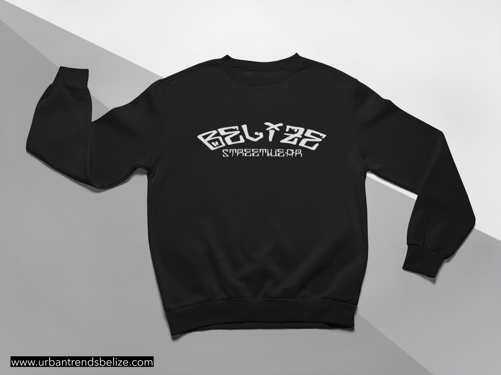 Image of BELIZE BLACK STREATWEAR SWEATSHIRT/CREWNECK