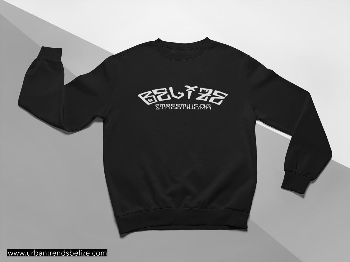 Image of BELIZE BLACK STREATWEAR SWEATSHIRT/CREWNECK