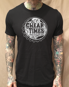 Image of CHEAP TIMES BOTTLE CAP BLACK TEE