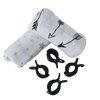 Large muslin wrap / Swaddle blankets + clips - set 2