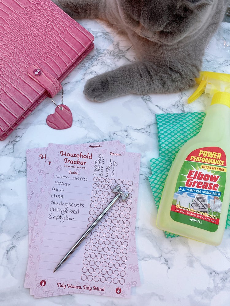 Image of HOUSEHOLD CLEANING CHORES A5 INSERT