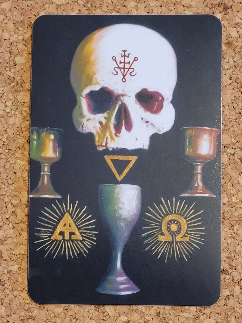 Image of Occultist (III) limited edition fridge magnet.