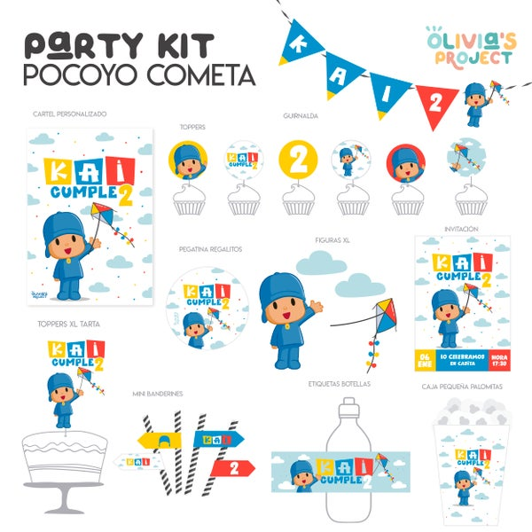 Image of Party Kit Pocoyo Cometa
