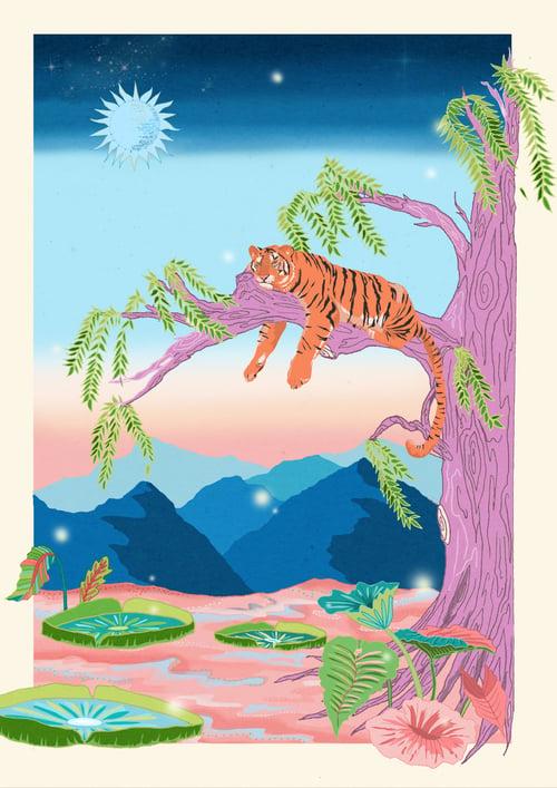 Image of A4/3 Giclée Print | The Sleepy Tiger