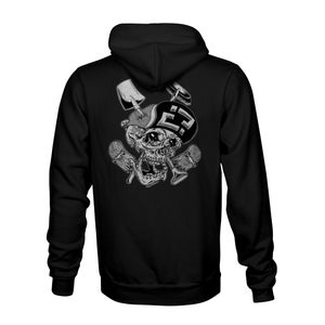 Image of Confusion - Skelly Cracker hoody [black]