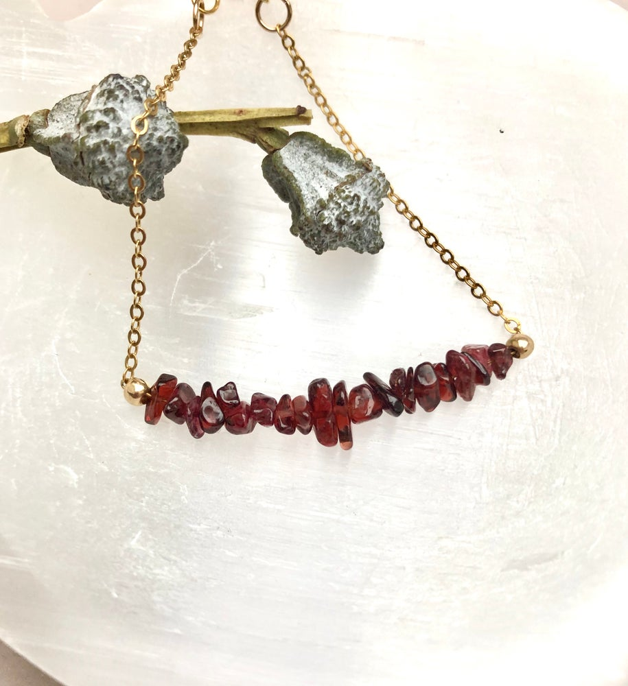 Image of Red Garnet Bracelet