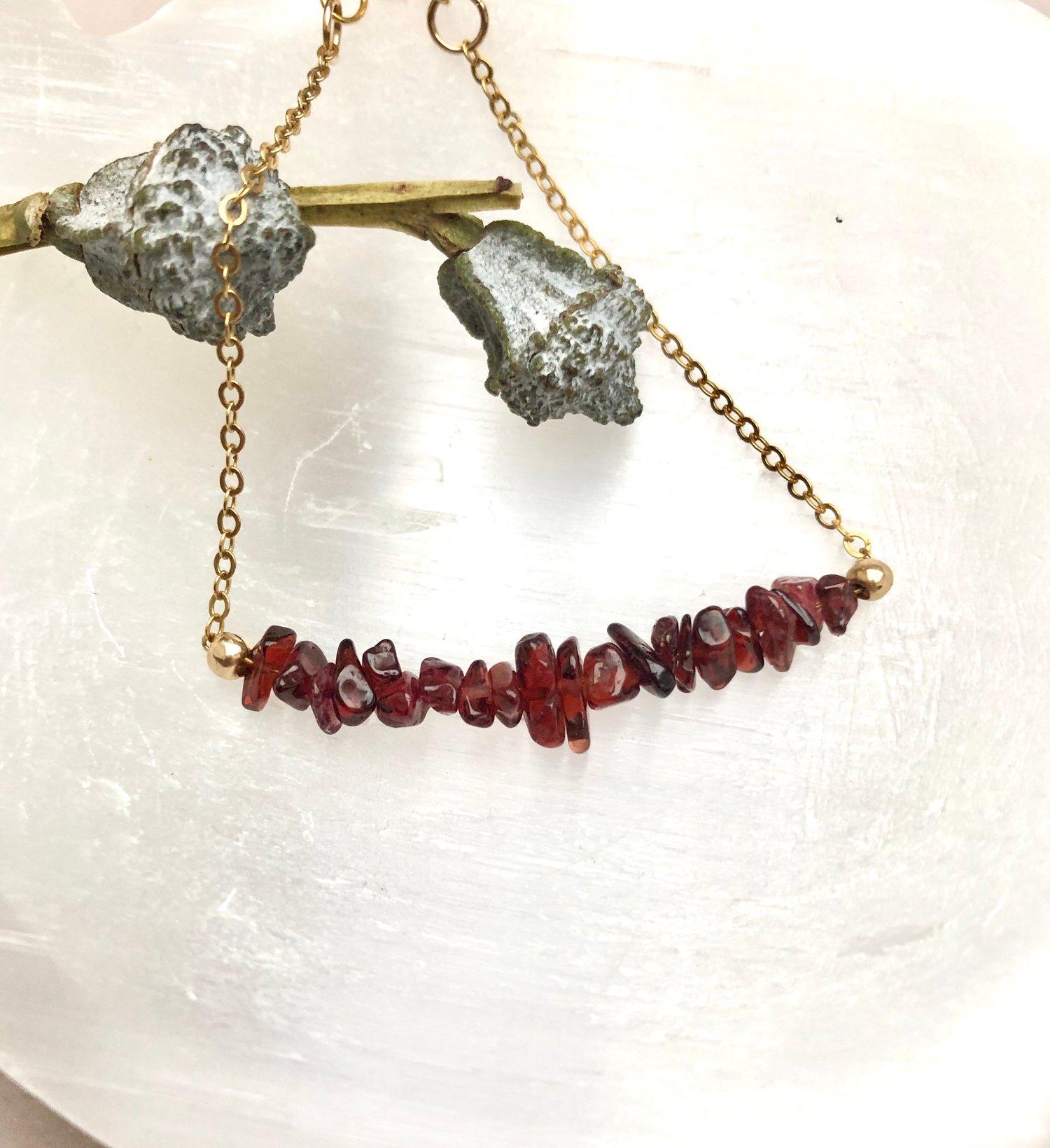 Image of Red Garnet Bracelet
