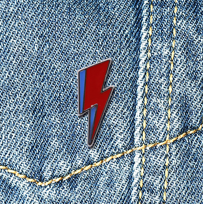 Bowie Inspired Lightning Bolt Badge/Pin