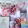 Deluxe Pink Elephants Baby Girl Gift Box