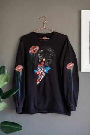 Image of 00's Harley Davidson Clown Long Sleeve