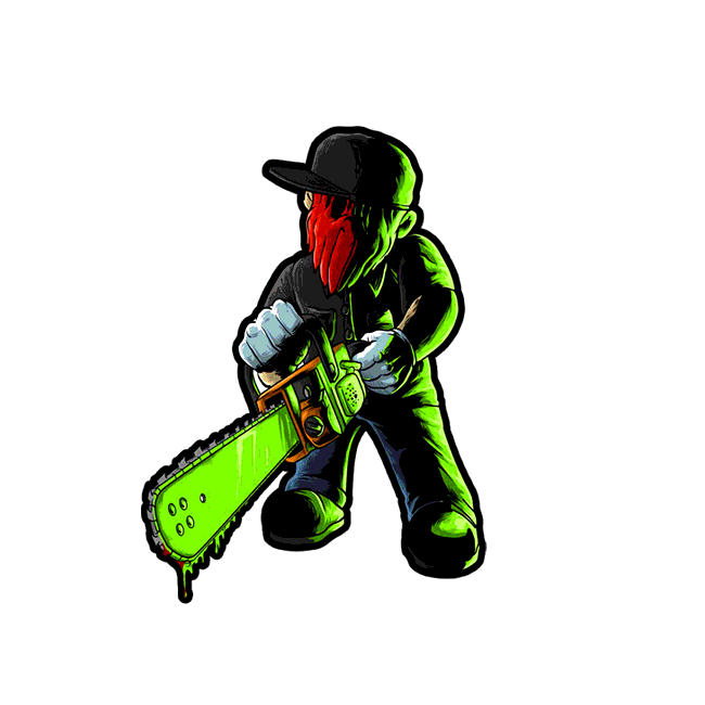"""Image of """"Chainsaw Symphony"""" Vinyl Decal"""