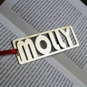 Personalised Gold Bookmarks