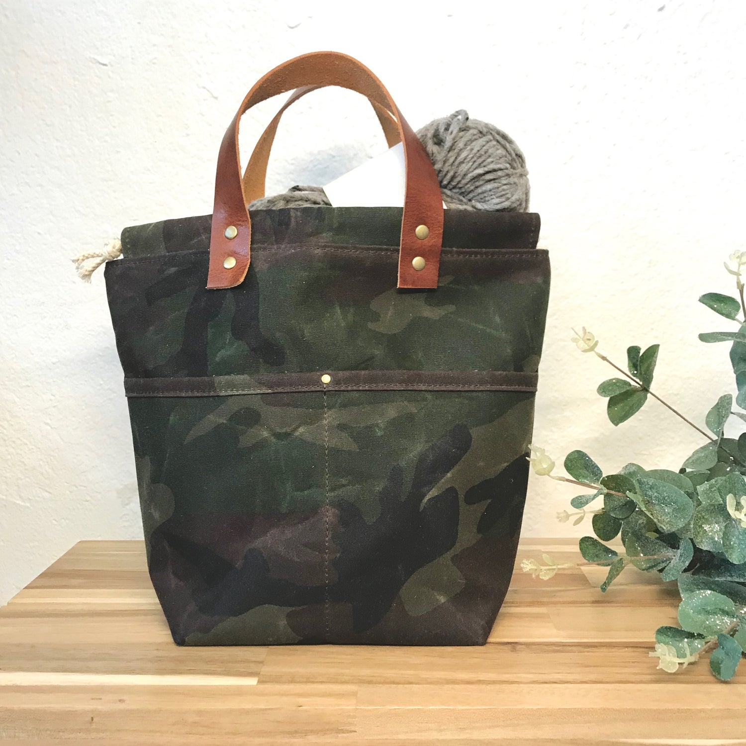 Image of Waxed Camo Project Bag