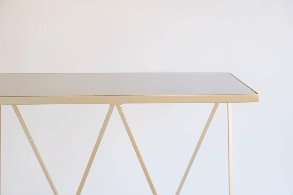 Image of Brass and mirror polished steel Giraffe Console Table