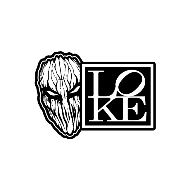 "Image of ""LOKE RECORDS"" Vinyl Decal"