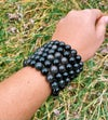 Silver Sheen Obsidian Natural Bracelet