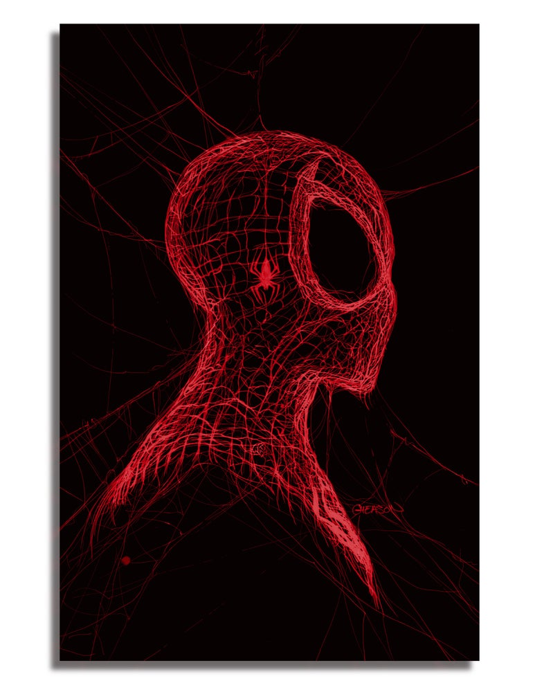 Image of RAW EXCLUSIVE VIRGIN VARIANT Amazing Spider-Man #55 - RED WEB PRINTING