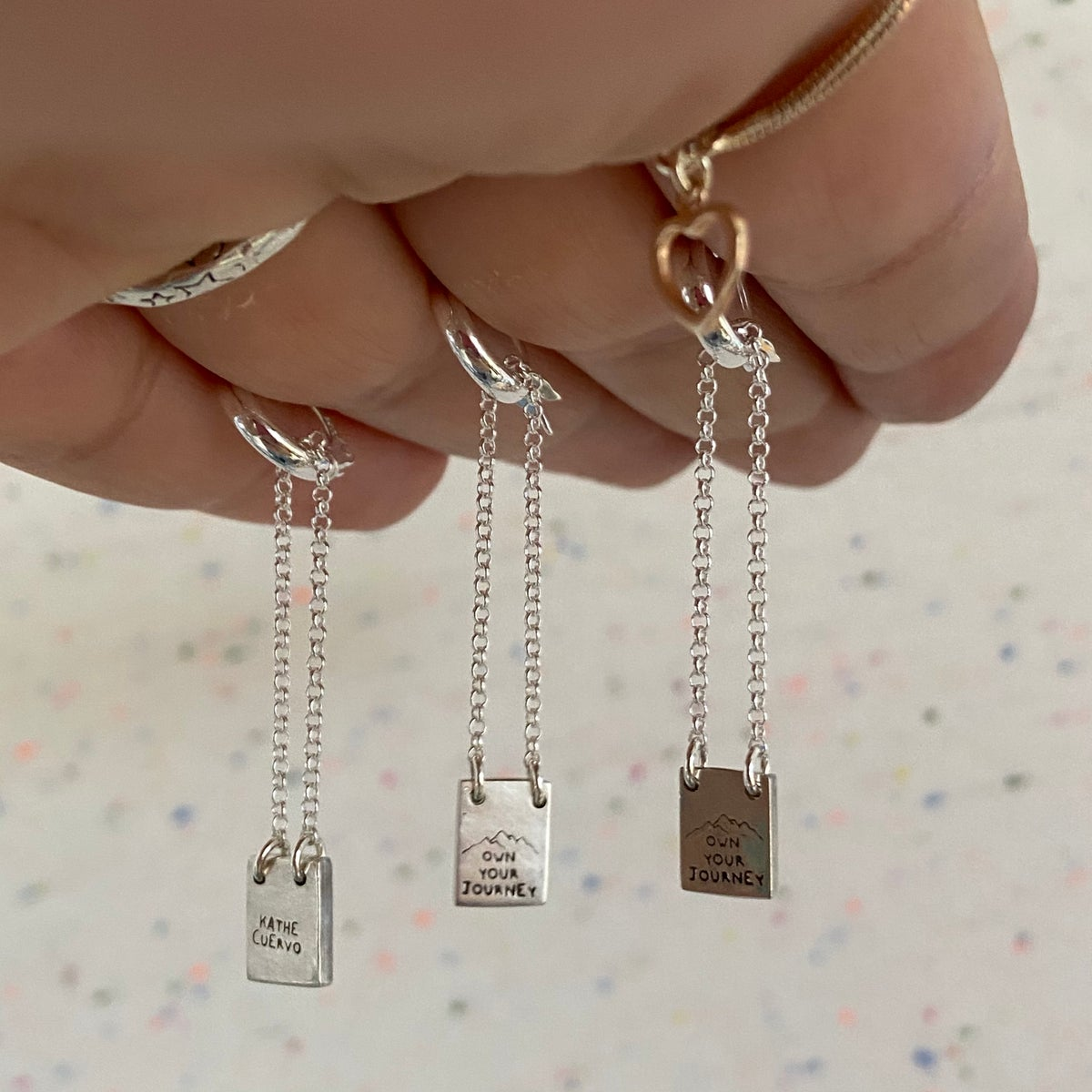 Image of tiny necklace for earring